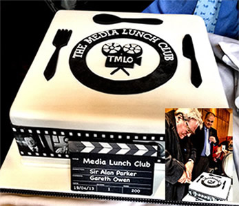 On April 19th Sir Alan Parker joined us for our 200th lunch, and cut the special birthday cake!